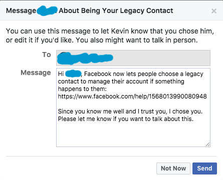 What Happens To My Facebook when I die-Legacy Contact